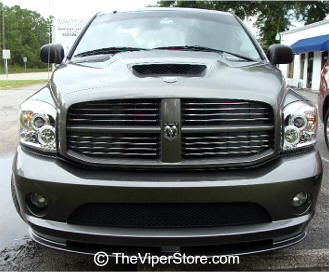 dodge ram srt10 2004 2006 headlight accessories and parts shown on stock headlight