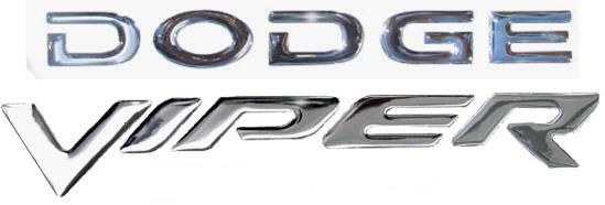 Dodge Viper hood vent trim and molding chrome