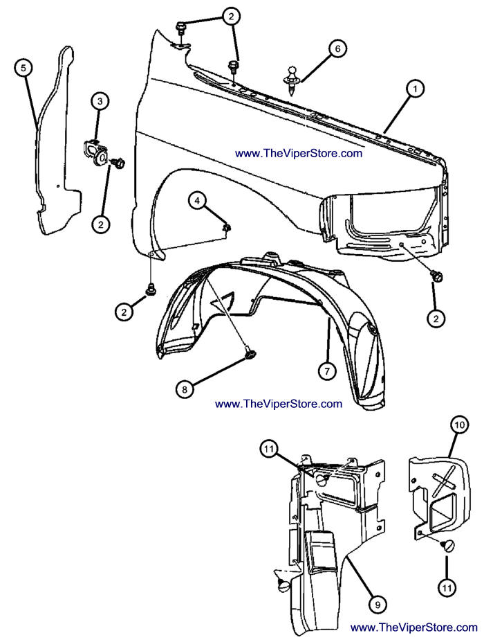 Service Manual Diagram How To Install Front Fender Of
