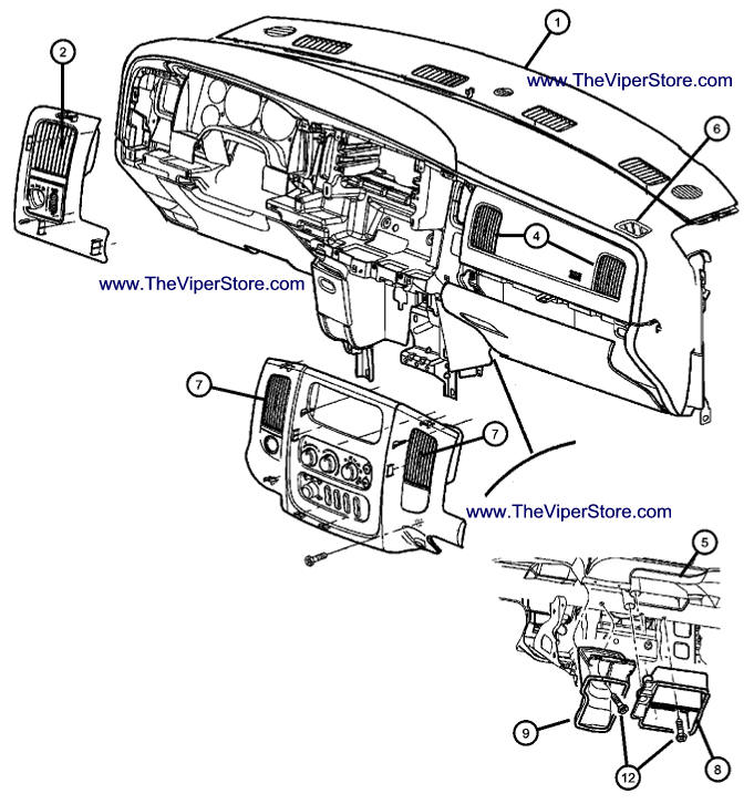 P 0900c15280038047 moreover P 0900c15280038047 together with 7 3 International Belt Diagram besides T15839605 Any way test transfer case shift motor further Parts Diagram Page Interior Air Vents Fascia RAM SRT10 2004 06. on 2004 dodge ram parts diagram