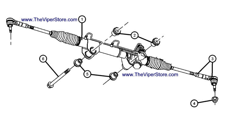 Parts Diagram Page Rack   Pinion Steering RAM SRT10 2004 06 on ford rear axle diagram