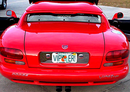 Dodge Viper License Plate Frame Dress Up Accessory