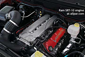 Viper engine in SRT-10 ram pickup truck