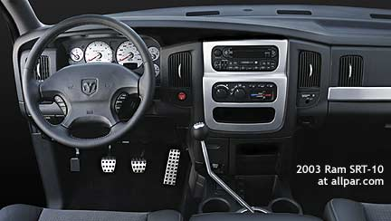 2003 SRT10 interior dash