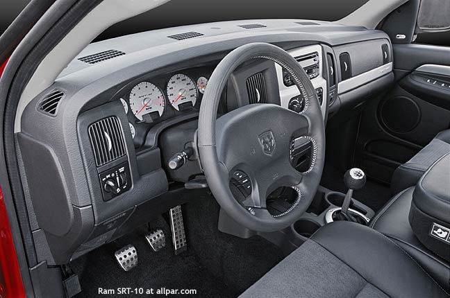 full interior of 2003 Dodge Ram SRT-10